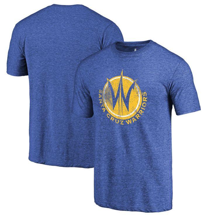 Santa Cruz Warriors Fanatics Branded Distressed Primary Tri-Blend T-Shirt - Royal