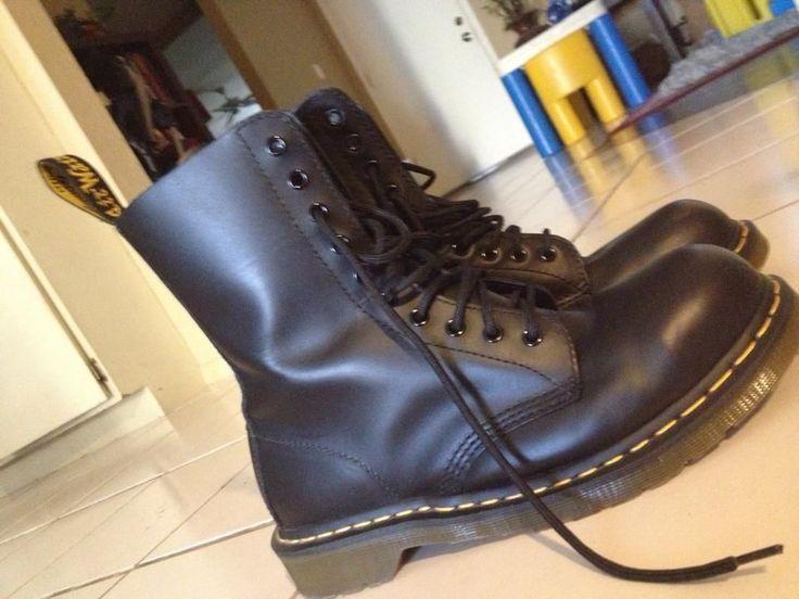 Dr. Martens, 10 Eye, Black, Leather, Men's size US 10 ...