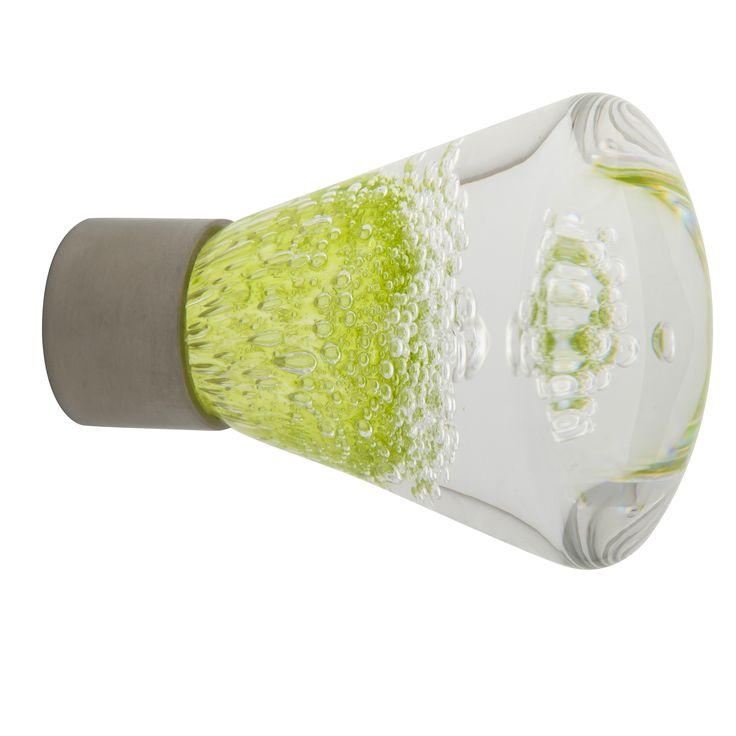 Bouton de meuble conique gamme séduction microbulles vert anis Fait main