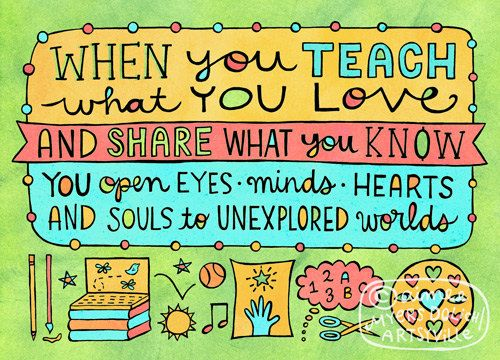 Teach What You Love 8x10 doodle print by artsyville on Etsy, $ 16.00