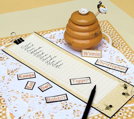 Empty the Honeypot Game. A quick-paced challenge in which baby shower guests write a chain of baby names.