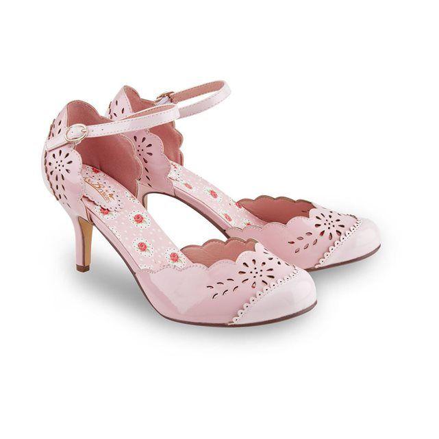 Chaussures style Mary Jane élégantes ornées de détails ajourés, d'une doublure florale et d'une lanière à la cheville.Dessus/Doublure/Semelle: AutreHauteur Talon: 8.5cmRETOURS GRATUITS