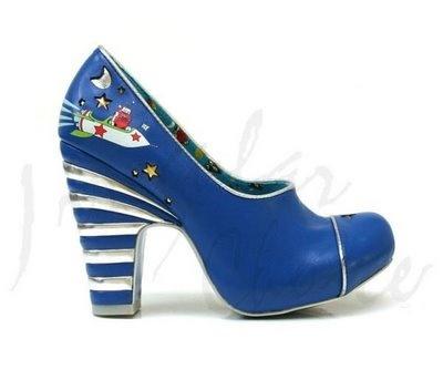 Escarpins Bout fermé Femme - Bleu - Bleu (Blue/Mint at), 38Irregular Choice