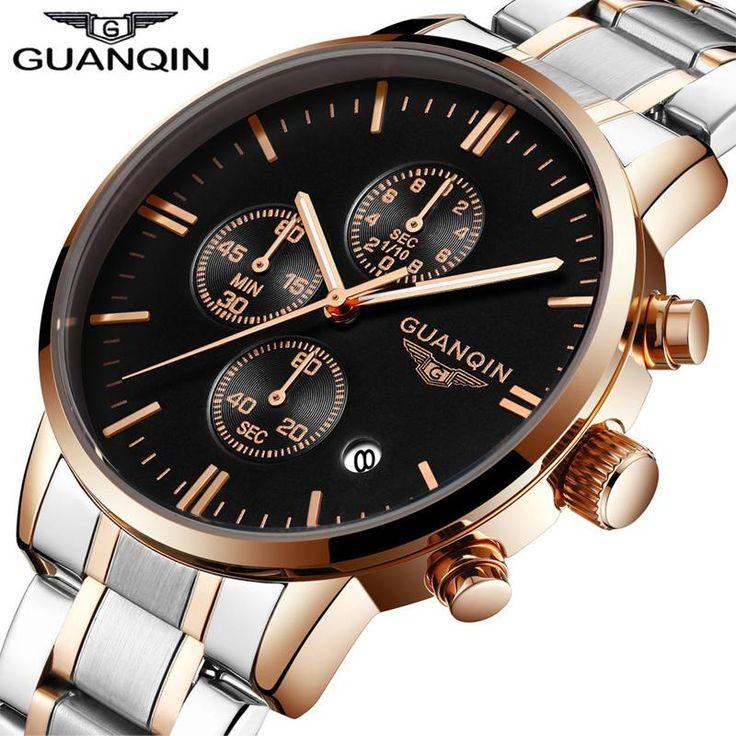 <b>GUANQIN Watches Men</b> Famous Brand Luxury Multi Function <b>Mens</b> ...