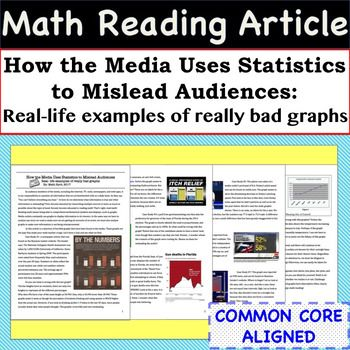 Statistics Math Article - Case Studies of Bad Graphs found in the Media