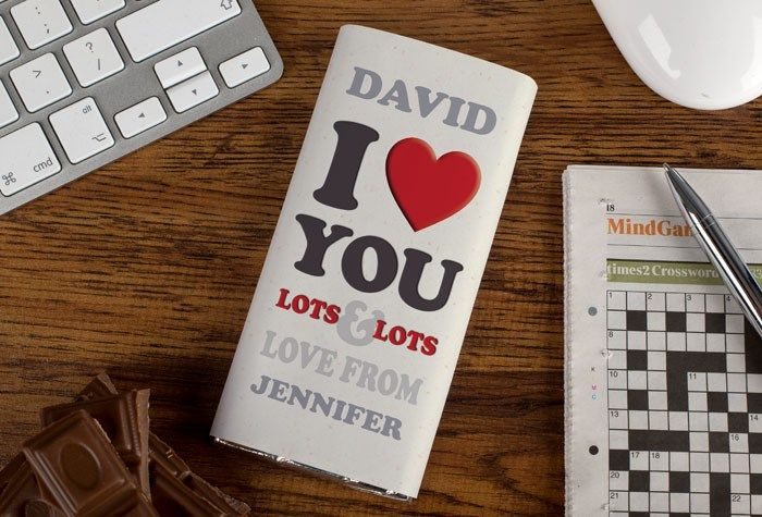 Personalised Chocolate Bar - I Love You Lots & Lots, A Tasty Treat | GettingPersonal.co.uk
