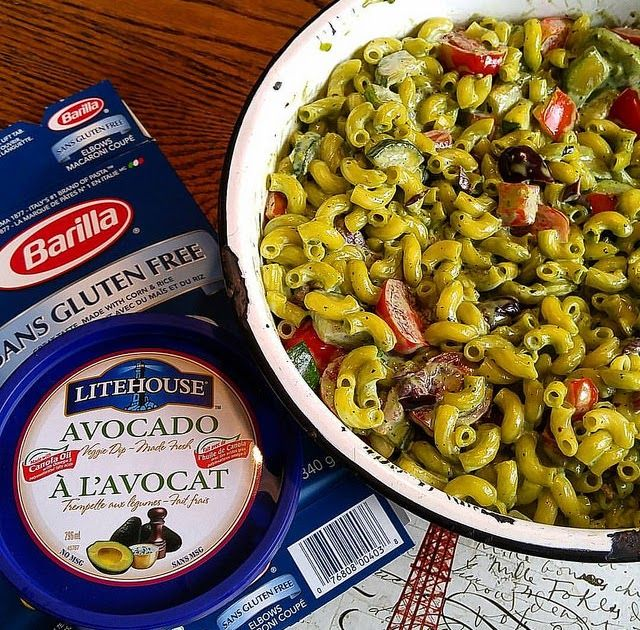Chicken Pasta Salad Made With Litehouse Avocado