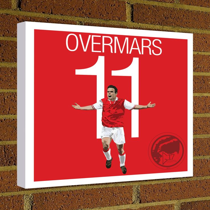 Square Canvas Wrap Marc Overmars Soccer Art Print Arsenal Soccer Posters wall decor home decor Netherlands print, Arsenal FC Football poster by Graphics17 on Etsy