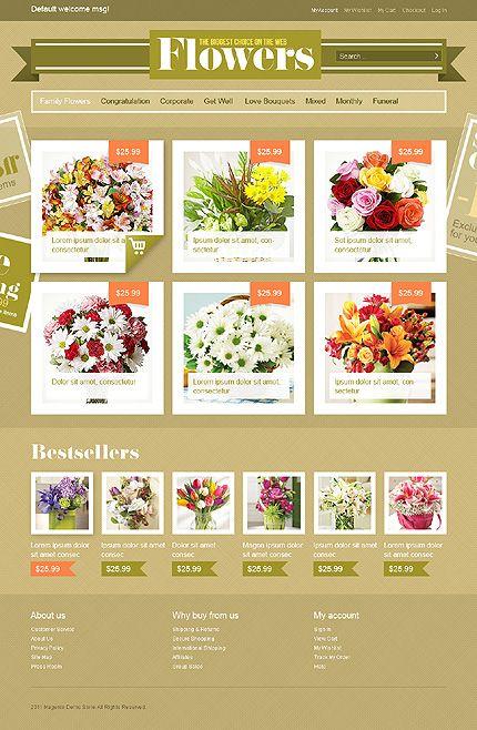 flower eCommerce web design