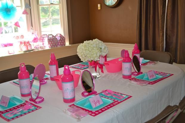 Manicure Table For Sale >> Adorable set up! Little girl or tween spa party ideas, planning a miss manicure party, jamberry ...