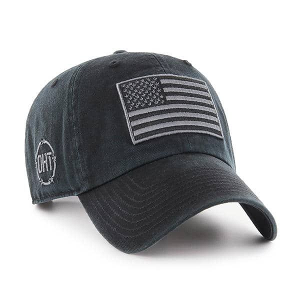 6380417547547 Operation Hat Trick Clean Up Black 47 Brand Adjustable USA Flag Hat ...