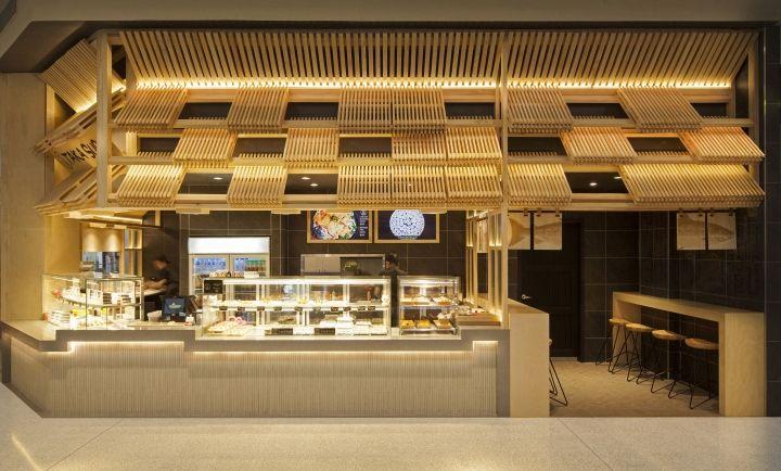 The design for taka sushi reinterprets the traditional for Food 101 bar bistro