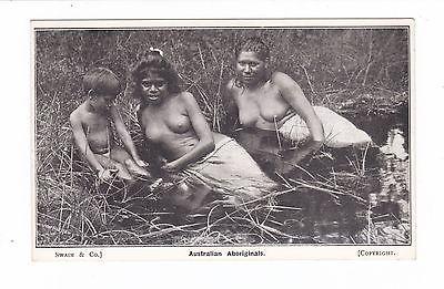 ABORIGINAL GIRLS in BILLABONG  AUSTRALIA c.1910s