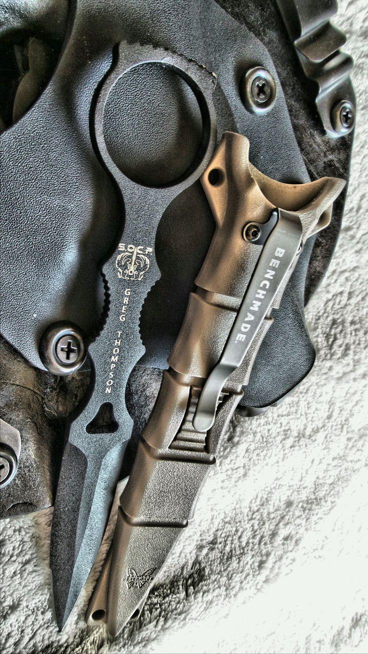 "Benchmade Socp Dagger, Fb, Sheath. BLADE STYLE: 3.22"" Skeletonized dagger BLADE STEEL: 440C stainless steel (58-60 HRC)"