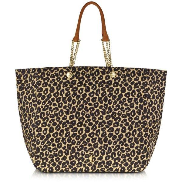 Juicy Couture Malibu Creek Print Beach Tote (470 BRL) ❤ liked on Polyvore featuring bags, handbags, tote bags, purses, bolsa, bolsos, carteras, floral tote, man bag and leopard print tote bag