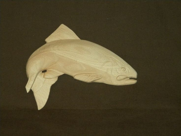 3d Relief Carved Trout With Images Carving Carved Fish