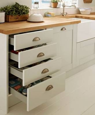 4 drawer base unit howdens kitchen pinterest for Basic kitchen base units