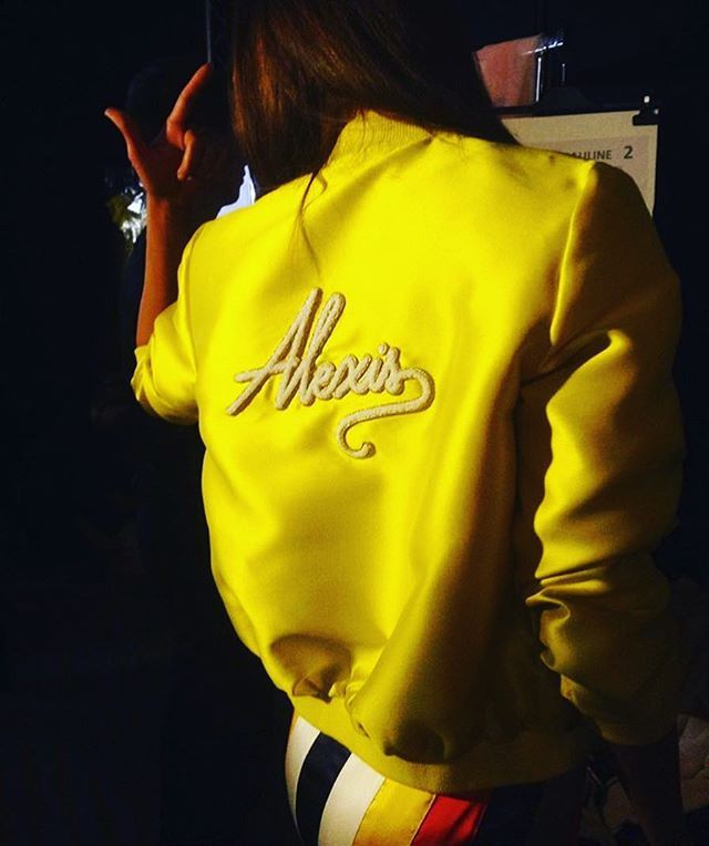 Instagram media by alexismabille - Fluo bombers to celebrate summer2017 @alexismabille #alexismabille #fluokid #bombers #summer #heatwave #alexis #logo #instafashion #instacolor #vitamin #vibrant