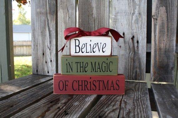 christmas magic blocks: Black Hairstyles, Decor Ideas, Christmas Crafts, Christmas Signs, Christmas Blocks, Diy Gifts, Christmas Decor, Woods Blocks, Rustic Christmas