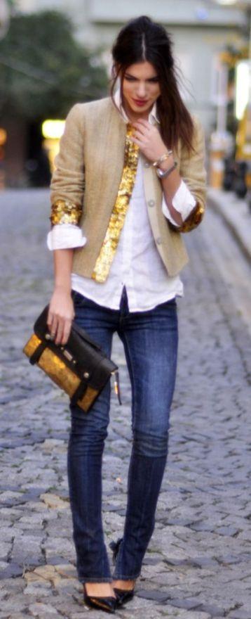 Jeans para tipo de cuerpo con hombros anchos
