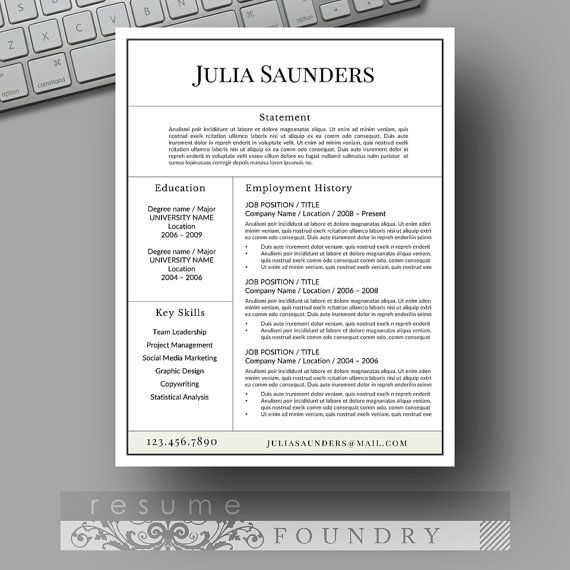 109 Best Unique Resumes Images On Pinterest | Cv Template, Resume