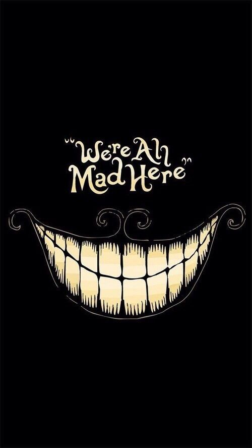 Imagen de mad, alice in wonderland, and smile