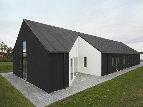 흑과백색 조화의 박공지붕 주택 - 덴마크 : 네이버 블로그