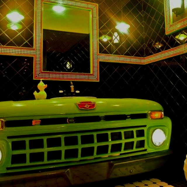 Man Cave Bathroom Colors: 111 Best Old Truck