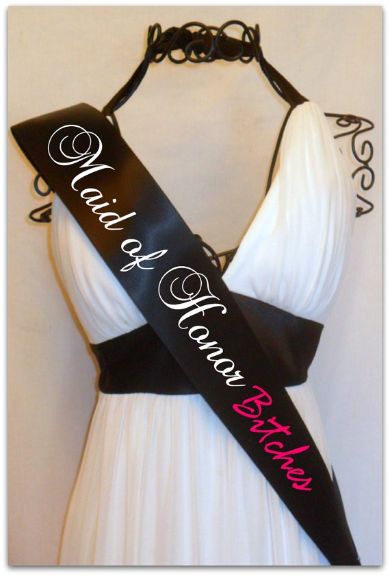 Maid of Honor Party Sash You Choose Colors by TheCraftyVixen, $15.00