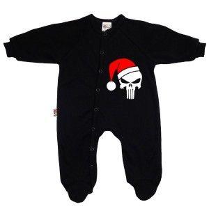 Pyjama bébé original : CRÂNE DE NOËL http://simedio.fr