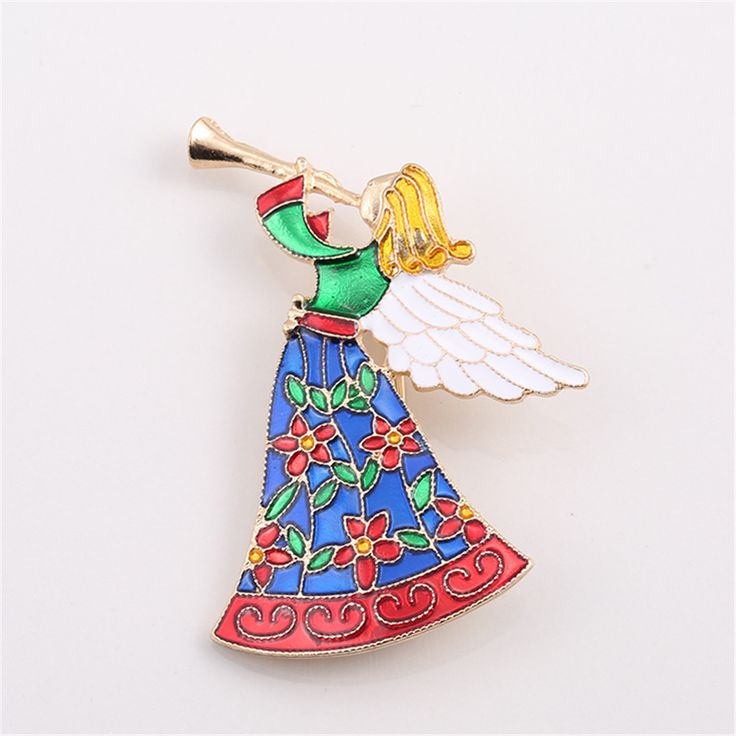 2017 free shipping fashion women New Jewelry wholesale Golden angel texture brooch accessories Wholesale brooches