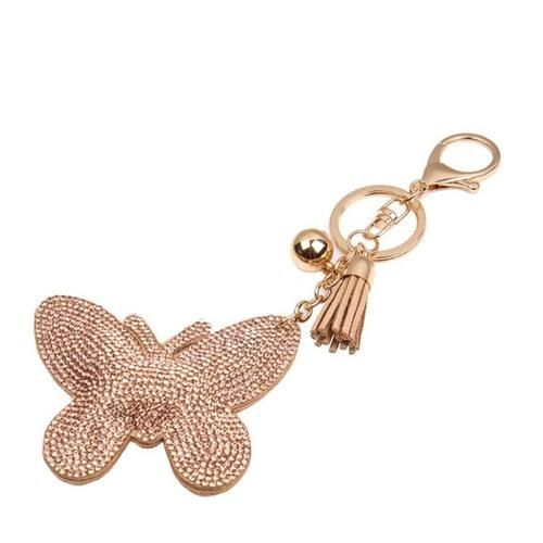 Starry-Styling Butterfly Keychain for Bag Handbag Key Ring Car Key Pendant