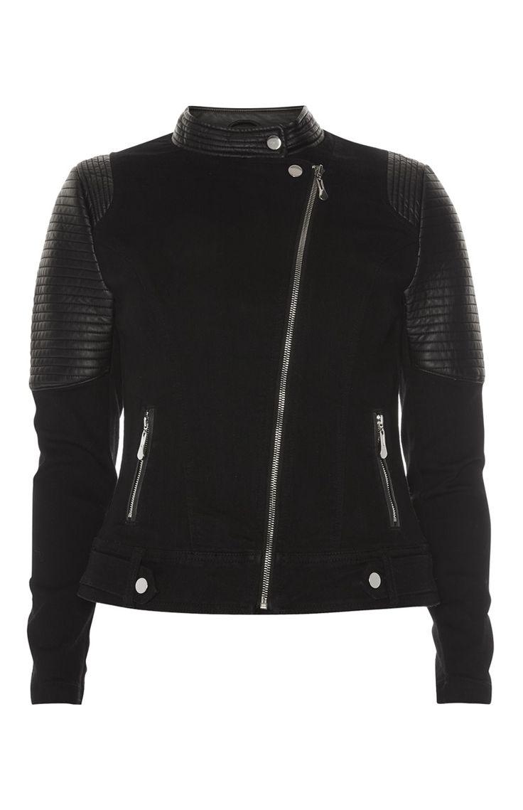 Primark - Black PU Motocross Jacket