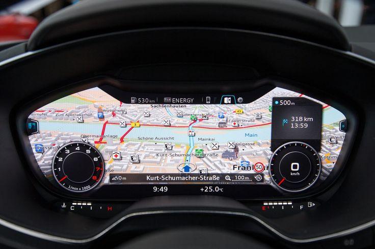 2015 Audi TT's Interior with Fully Digital Instrument Cluster