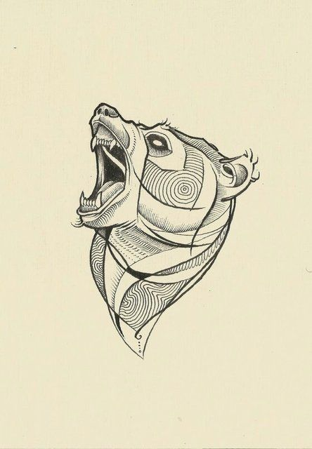 bear tattoo sketch - Cerca con Google