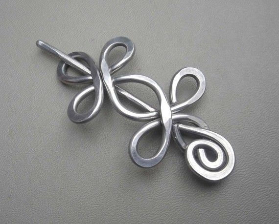 Celtic Double Crossed Loops Aluminum Shawl by nicholasandfelice, $18.00