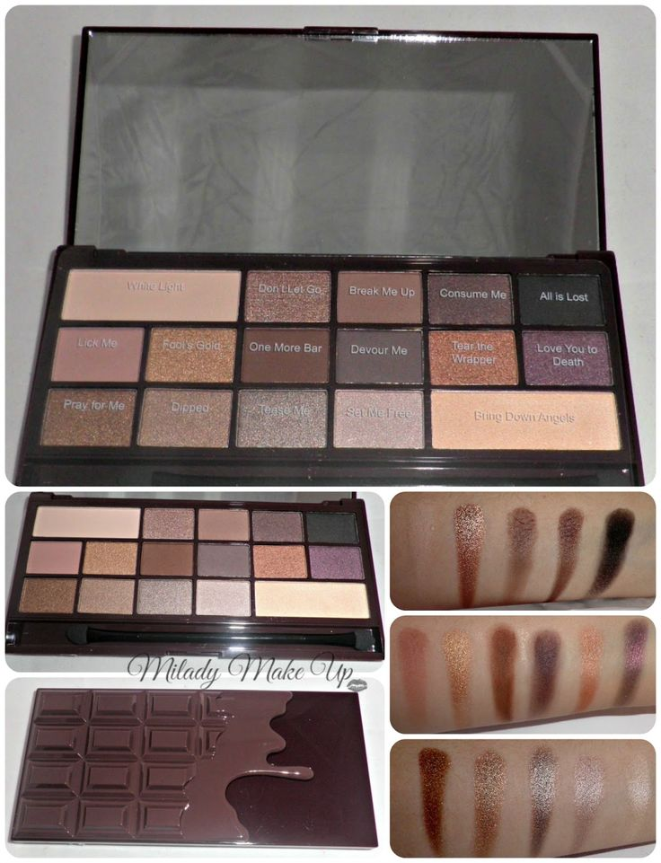 Death by Chocolate I heart makeup palette by Makeup Revolution