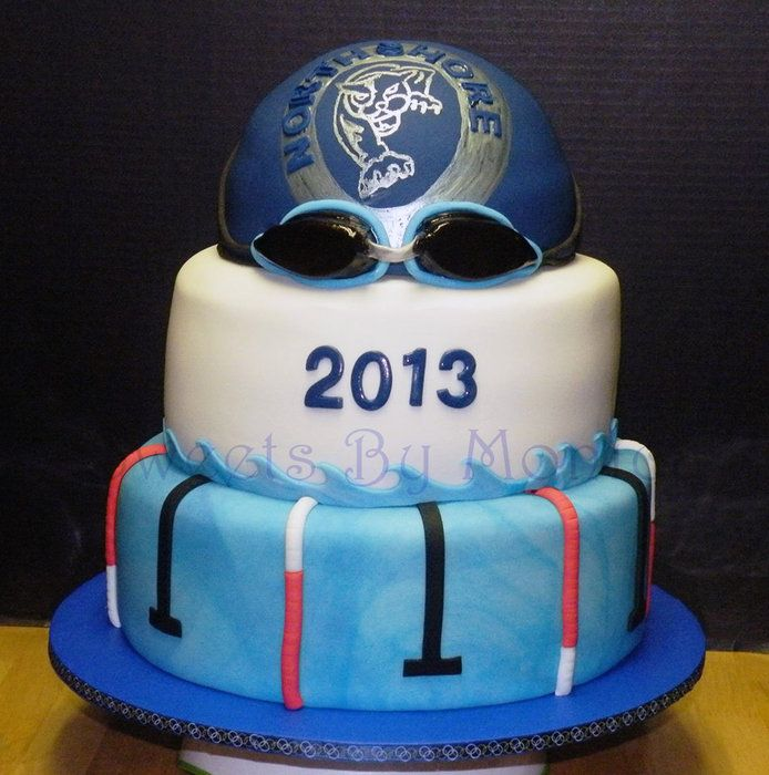 NHS Panthers Swim Team Banquet - by SweetsByMonica @ CakesDecor.com - cake decorating website