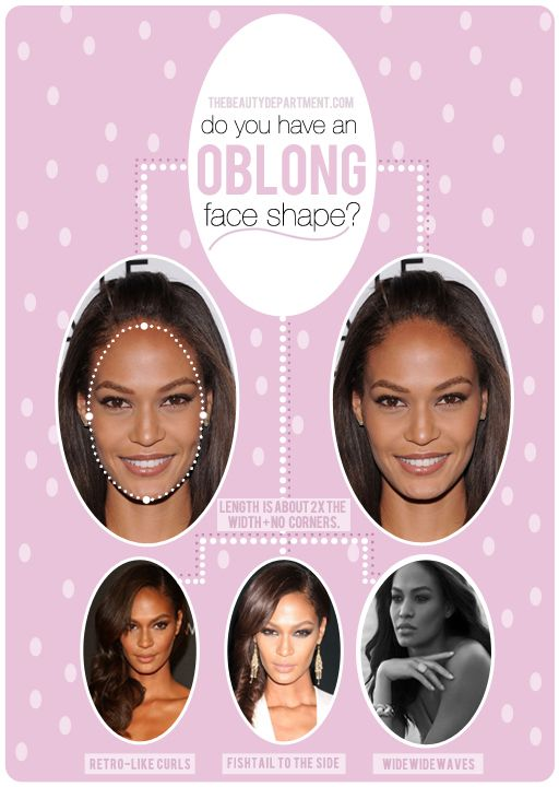 Hairstyles for oblong face shapes.
