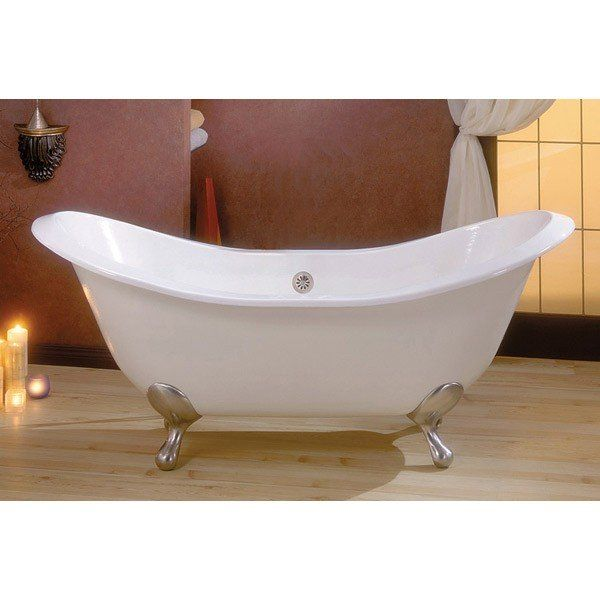 Cheviot 72 Inch Cast Iron Double Ended Slipper Clawfoot Tub