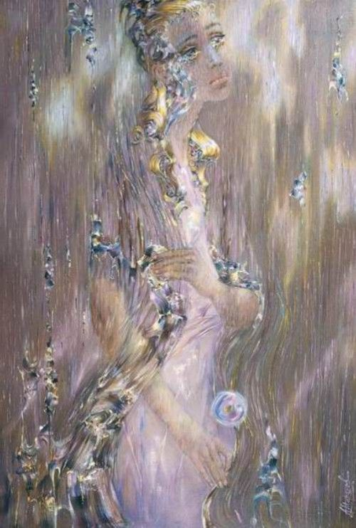 Glowing paintings by Russian artist Alexander Maranov