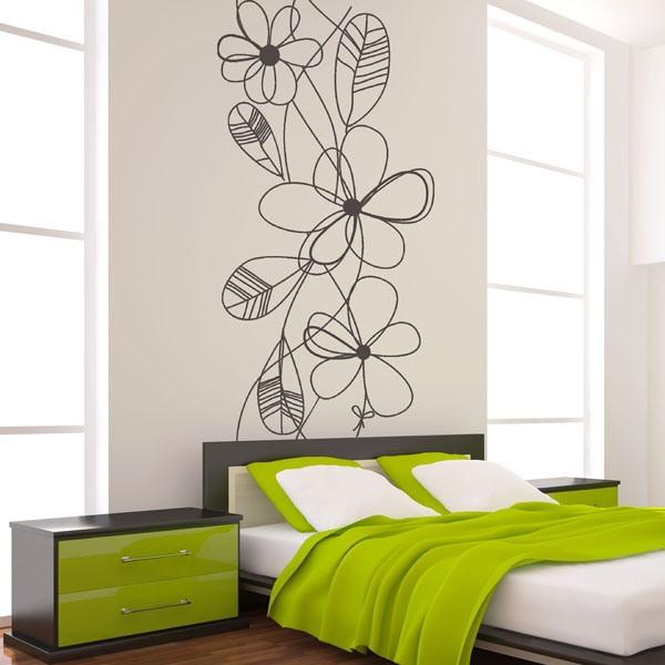 Vinil Decorativo Moderno MO047 Um elegante design floral, para a decorar a cabeceira do deu quarto. http://papeldeparedeonline.com/2013/01/08/vinil-decorativo/