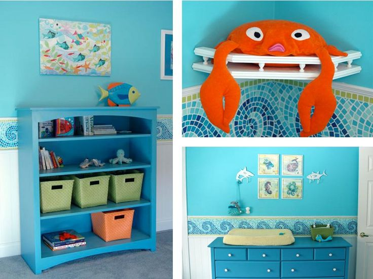 sea life nursery that is soooooo cute!!! def idea for baby boy