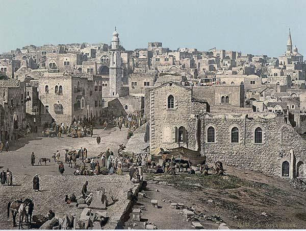 Antique photograph of Bethlehem- I would like to visit