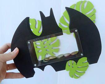 Money box | Batman Bank | wood piggy bank | Batman Piggy Bank | Wooden Coin Banks | Boys room decore | nursery decor | Kids money box