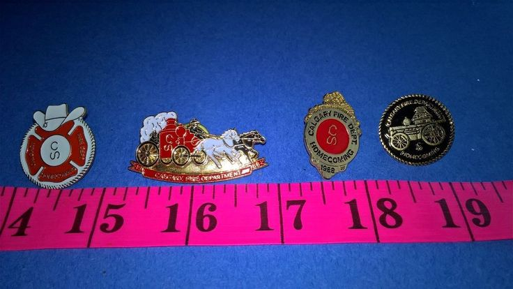 Calgary Fire Department Lapel Pin 1988 Homecoming Lot