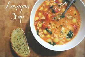 Comforting Lasagna Soup   FaveGlutenFreeRecipes.com
