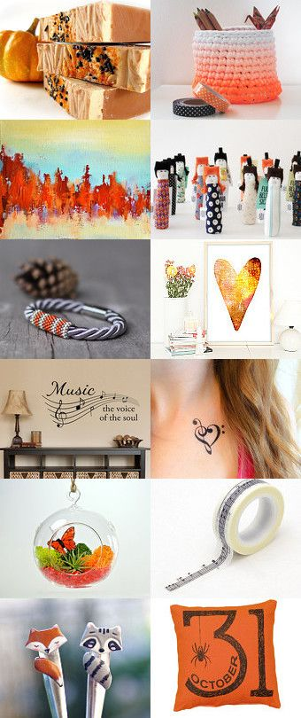 Hello October! by Ana Jerónimo on Etsy--Pinned+with+TreasuryPin.com