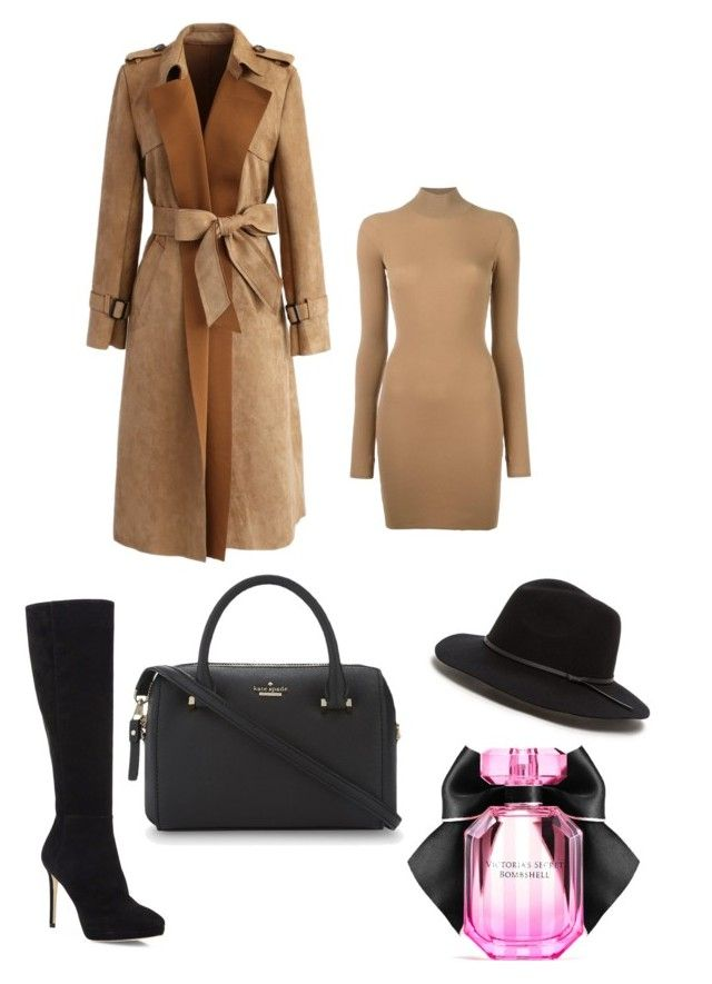 """""""cooold outside❄️"""" by secretxx on Polyvore featuring Chicwish, adidas Originals, Jimmy Choo, Kate Spade and Victoria's Secret"""