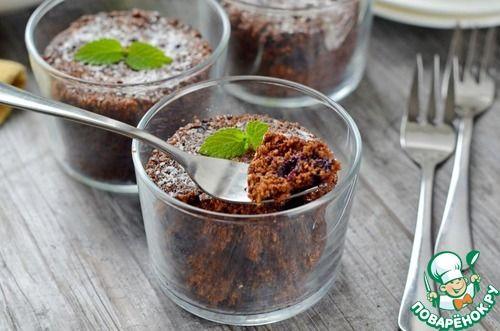 Овсяно-шоколадные кексы в микроволновке - кулинарный рецепт